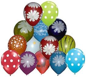 Crazy Sutra Colorful Balloon Multicolor Printed (Pack of 50)