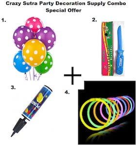 Crazy Sutra Party Accessories With MultiColor Balloon