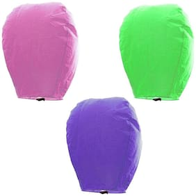 Crazy Sutra Make A Wish Hot Air Baloon Paper Sky Lantern Set Of 3