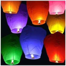 Crazy Sutra Make A Wish Hot Air Baloon Paper Sky Lantern Set Of 10 (sls01)