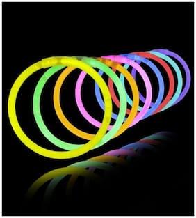 Crazy Sutra Glow in the Dark Bands - Premium Lumistick Bracelets - 100 pcs Set Assorted Colours