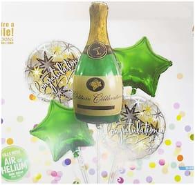 Crazy Sutra Congratulations Balloon Bouquet / Congrats Balloons Set of 5 Aluminum Film Balloon for Graduation Congratulations