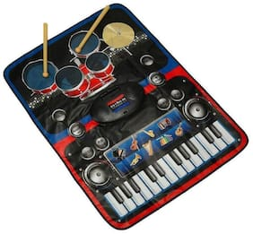 crazy toys 2 in 1 Musical Jam Playmat, Multi Color