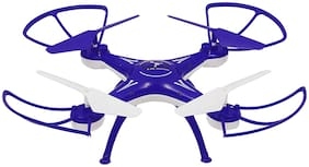 CRAZY TOYS A Flying Drone H010, Quadcopter 6-AXIS GYRO, 360 deg, with USB Charger and RC. (Blue)