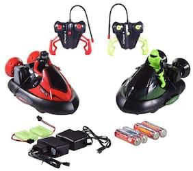 crazy toys  Bump N Eject RC Bumper Cars with 2 Radio Control Vehicles- Remote Control Toy Game for Kids