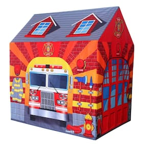 crazy toys fire station tent house for kids