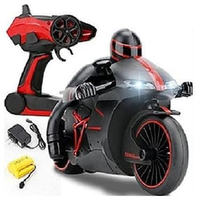 crazy toys High-Speed Lightning RC Remote Control Motorcycle (RED) 2.4 GHz Rechargeable w Gyro Balanced