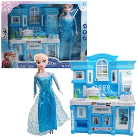 crazy toys latest my frozen kitchen modern play set With Doll  Play For Girls,Boys And Kids