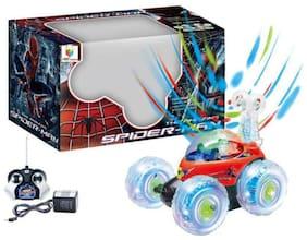 crazy toys Multicolour Spiderman R/C Stunt Car