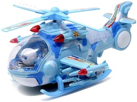 crazy toys Multicolour Plastic Musical Helicopter