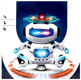 crazy toys Music Robot Toy with Naughty Dancing LED Light (White)