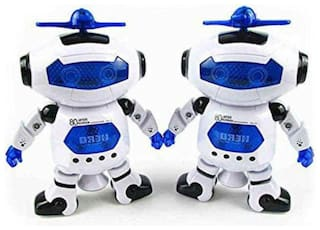 crazy toys Naughty Dancing Toy Robots - Pack of 2