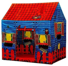 crazy toys Polyester Kids Light Weight, Water and Fire Proof Farm House Plastic Tent (Multicolour, Jumbo Size)