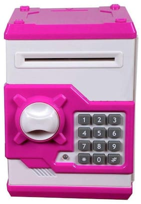 crazy toys Pink Electronic Money Safe Box