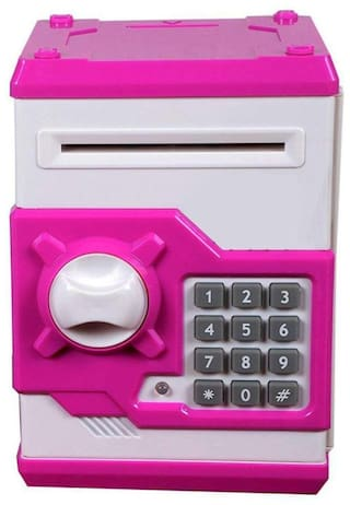 crazy toys Pink Electronic Money Safe Box