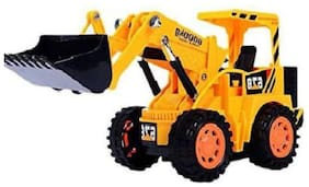 crazy toys Yellow Plastic Remote Control Jcb Construction