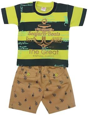 CRAZY TOONZ Cotton blend Printed Top & Bottom Set - Yellow