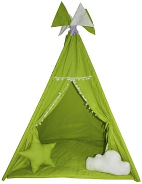 Creative Textiles Play tent houses for your children | Indoor/Outdoor Play tent house for kids | Green