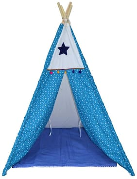Creative Textiles Cotton/Plastic Poles Kids Play Tent/House
