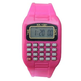 Creator  KK-1081-Calculator-Date-AM-PM Time Digital Fashion Watch For Boys And Girls