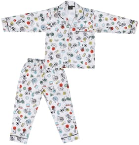 Cremlin Clothing Printed Top & Pyjama Set (Multi)