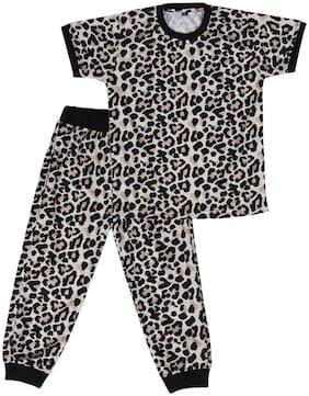 Cremlin Clothing Cotton Blend Printed Multi Color Top & Pyjama Set