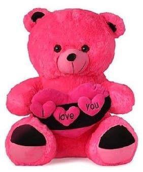 CROCOZILE Pink Teddy Bear - 40 cm