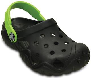 Crocs Boys Black Swiftwater Clogs