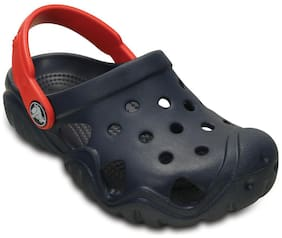Crocs Boys Swiftwater Navy & Flame Clog