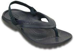 Crocs Kid's Girls Classic Navy Flip