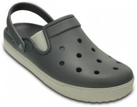 Crocs Kid's Boys CitiLane Charcoal & Pearl White Clog