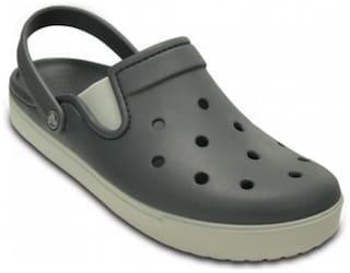 Crocs Kid's Boys CitiLane Charcoal & Pearl White Clog