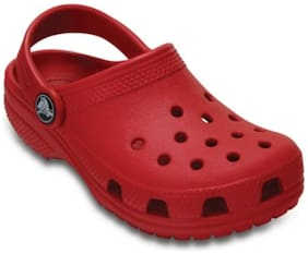 Crocs Kid's Classic Girls Clog In Red