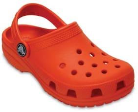 Crocs Boys Orange Classic Clogs
