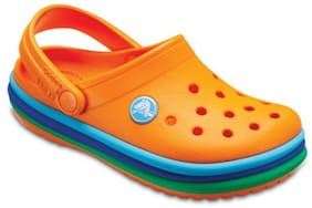 Crocs Kid's Clog Croslite Orange Boys 8-9 Years