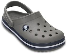 Crocs Boys Grey Crocband Clogs