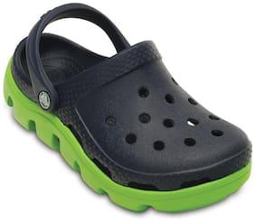 Crocs Kid's Boys Duet Sport Navy & Volt Green Clog