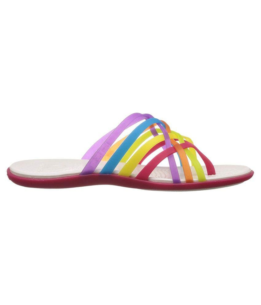 8a3cff0f3f2e ... Footwear Girls Girls Slippers   Flip Flops.  https   assetscdn1.paytm.com images catalog product . Crocs Girls Huarache  Geranium ...