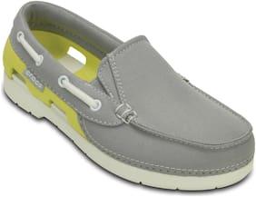 Crocs Kids Grey Beach Line Hybrid Boat Shoe GS Casual Shoes 200036-0AK