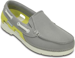 Crocs Kids Grey Beach Line Hybrid Boat Shoe GS Casual Shoes 200036-0AK