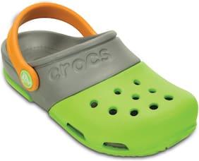 Crocs Kids Green Grey Electro II Clogs 15608-3K9