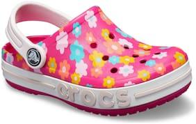 Crocs Kids Pink Bayaband Seasonal Grphc Clogs 205621-6X0
