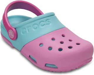 Crocs Kids Pink Blue Electro II Clogs 15608-6AK