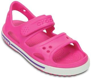 Crocs Boys Pink Crocband Sandals