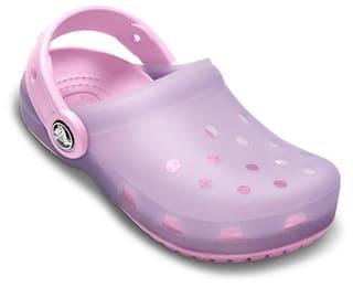 882a0b1cd6de47 Buy Crocs Girls ChameleonsTM Translucent Lavender   Carnation Clog ...