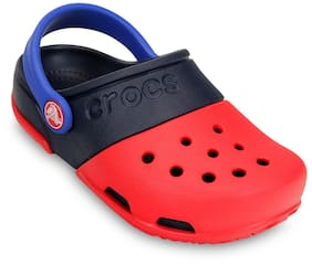 Crocs Girls Electro II Red & Navy Clog