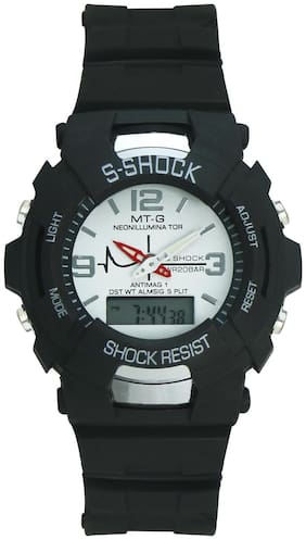 Crude Smart Digital-Analog Watch with White Dial & PU Strap for Boy's & Kid's