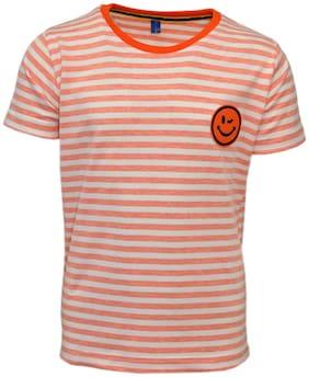 CH CRUX & HUNTER Boy Cotton Striped T-shirt - Orange
