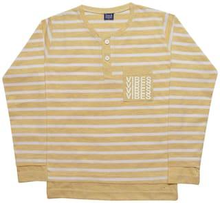 CH CRUX & HUNTER Boy Cotton Striped T-shirt - Yellow