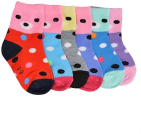 Crux&hunter cotton spandex kids ankle socks(Age: 1-3 years)